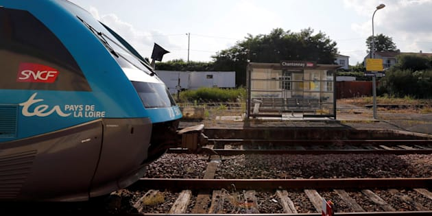A train arrives at the French state-owned railway company SNCF station in Chantonnay, France, June 13, 2018. REUTERS/Regis Duvignau