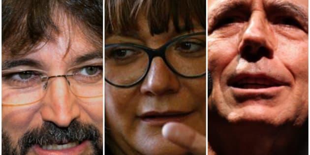 Jordi Évole, Isabel Coixet y Joan Manuel Serrat.