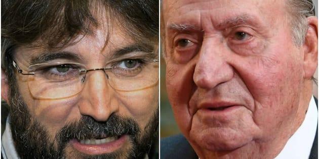 Jordi Évole y el rey Juan Carlos, en sendas imágenes de archivo.