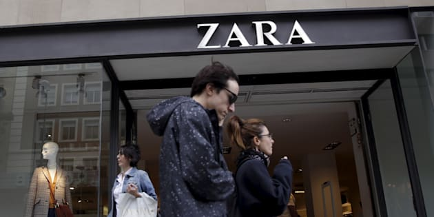 "People walk past a Zara store in central Madrid, Spain, Sept. 16, 2015. Workers in Turkey who stitched pleas for help into clothing sold by retailer Zara are ""just the tip of the iceberg"" and highlight the need for mechanisms to address concerns about labor conditions, a top human rights expert said on Wednesday."
