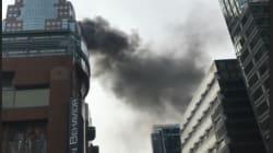 Tour Bell Média: incendie majeur au centre-ville de