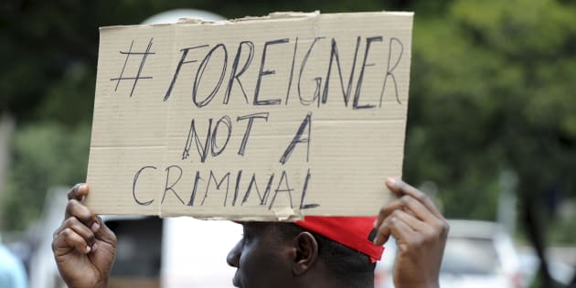 A protest aginst xenophobia in Johannesburg in December 2016.