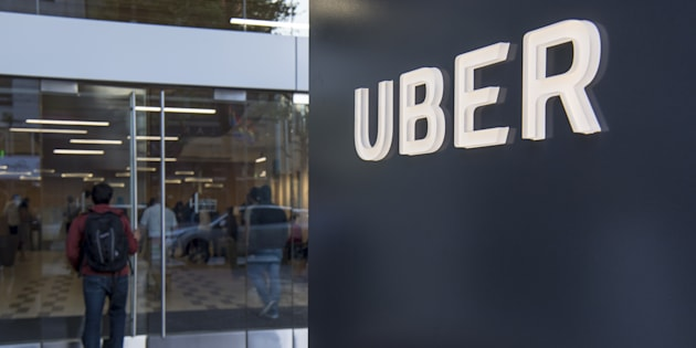 A man enters the Uber Technologies Inc. headquarters building in San Francisco, California, U.S., on Wednesday, June 21, 2017.