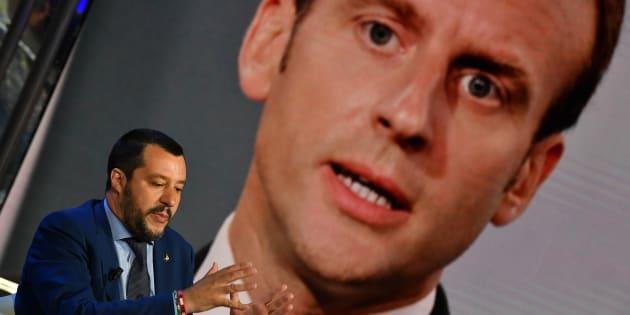 """Salvini a pris pour lui les propos de Macron sur """"la lèpre qui monte"""" en Europe."""