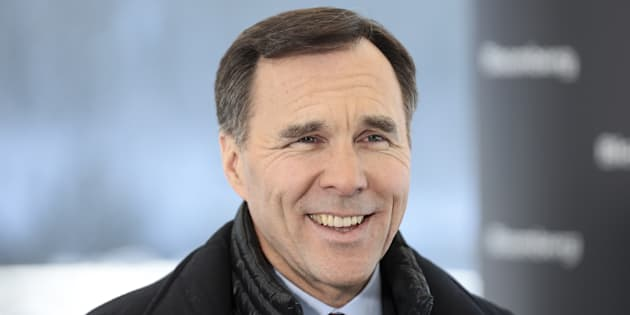 Finance Minister Bill Morneau is interviewed on the closing day of the World Economic Forum in Davos, Switzerland on Jan. 25, 2019.