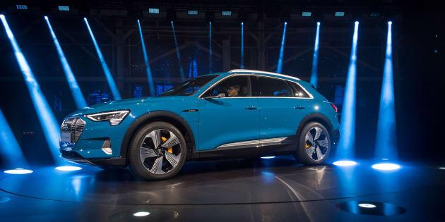 Le nouveau SUV électrique Audi e-tron présenté à Richmond en Californie le 17 septembre 2018.