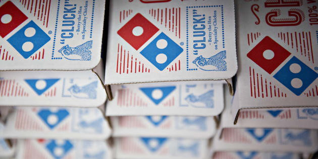 Domino's is transporting pizzas like these by air in New Zealand.
