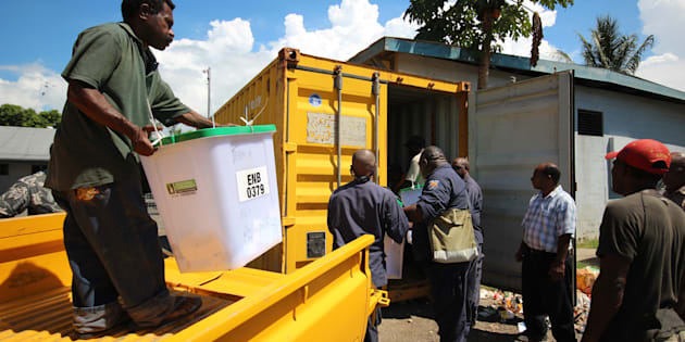 30,000 electoral officials are helping the infrastructure poor nation have its ninth election.