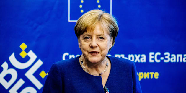 German Chancellor Angela Merkel speaks to the press during the EU-Western Balkans Summit in Sofia on May 17, 2018. - European Union leaders meet their Balkan counterparts to hold out the promise of closer links to counter Russian influence, while steering clear of openly offering them membership. (Photo by Dimitar DILKOFF / AFP)        (Photo credit should read DIMITAR DILKOFF/AFP/Getty Images)