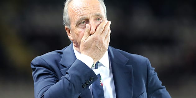 STADIO GRANDE TORINO, TORINO, ITALY - 2017/10/06: Head coach Italy Gian Piero Ventura despairs during the FIFA 2018 World Cup Qualifier match between Italy and FYR Macedonia .    The match end in a tie 1-1. (Photo by Marco Canoniero/LightRocket via Getty Images)