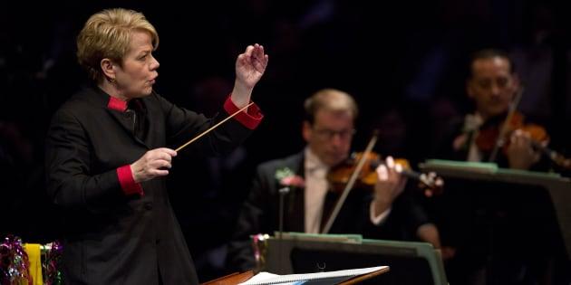 Marin Alsop, première femme à la tête de l'orchestre symphonique de Vienne