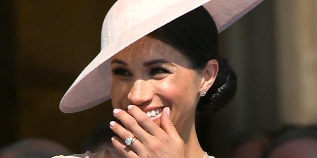 Avec ce blason, Meghan Markle (ici le 22 mai à Buckingham Palace) a reçu un rare honneur, voici ce qu'il signifie.