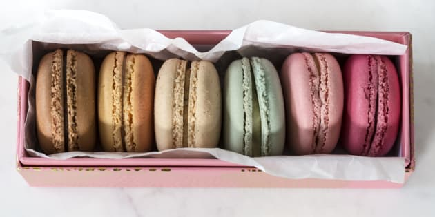 Assorted macarons (or macaroons)
