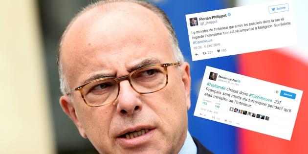 Sitôt nommé premier ministre, Cazeneuve accusé par le FN d'avoir favorisé le terrorisme