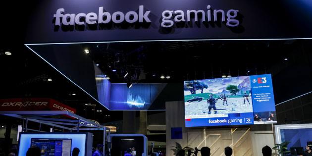 L'espace de Facebook au E3 présentait une plateforme de jeux vidéo.