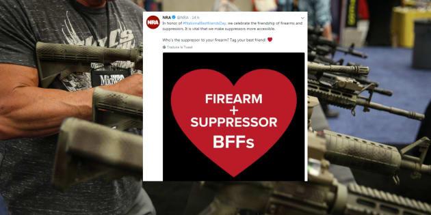 """La NRA vous souhaite une belle """"journée des meilleurs amis"""" (à base d'armes et de silencieux)"""