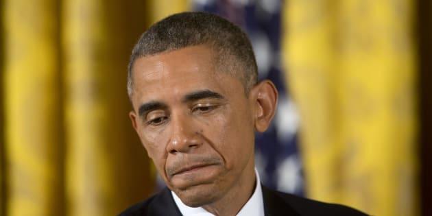 Barack Obama durant une conférence de presse sur les midterms à Washington le 5 novembre 2014.