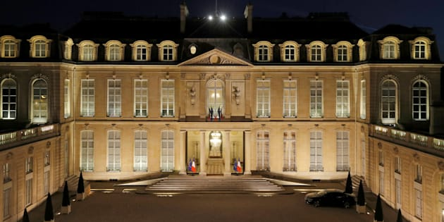 Le palais de l'Elysée à Paris, vu le 28 mars 2017.