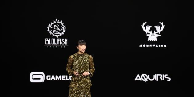 Ann Thai, directrice des produits pour l'App Store, présente Apple Arcade.