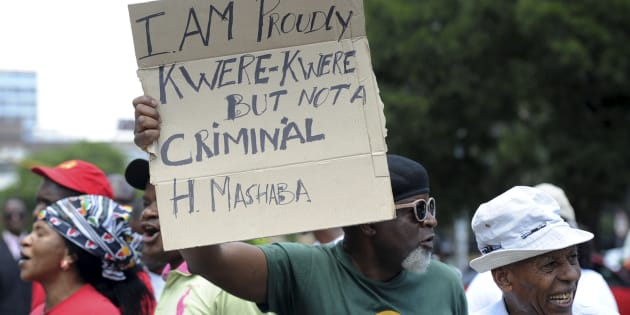 Immigrants, asylum seekers and other organisations handed over a memorandum to Johannesburg mayor Herman Mashaba during a protest in Johannesburg on December 19, 2016. Mashaba was criticised for allegedly making xenophobic comments.