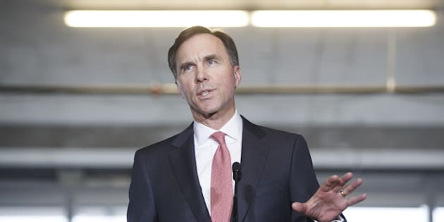 Bill Morneau, Canada's finance minister, speaks during an event at the Vector Institute at the MaRS Discovery District in Toronto, Ont., on Thursday, March 30, 2017.