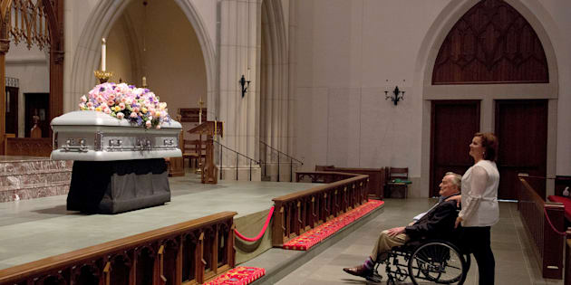 Dernier hommage à Barbara Bush
