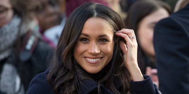 Meghan Markle arrives at the Terrance Higgins Trust World AIDS Day charity fair on Dec. 1, 2017 in Nottingham, England.