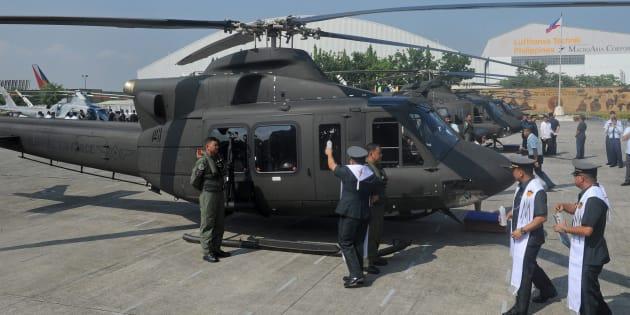 Un hélicoptère Bell 412.