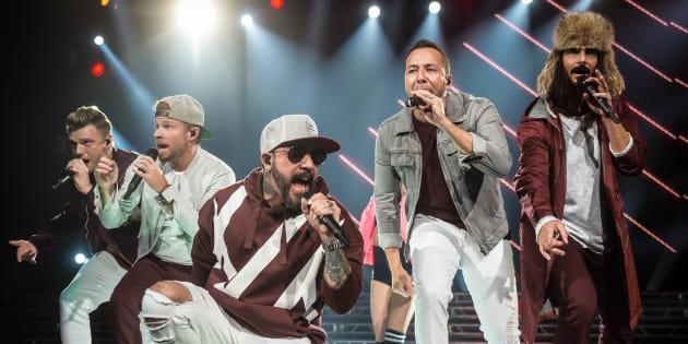 Backstreet Boys en un concierto en Bankers Life Fieldhouse en Indiana, Estados Unidos.