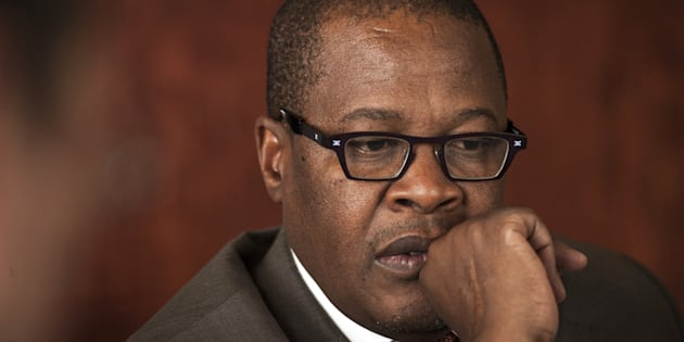 Brian Molefe, chief executive officer of Eskom Holdings SOC Ltd., pauses during an interview at the company's headquarters at Megawatt Park in Sandton, near Johannesburg, South Africa, on Wednesday, Nov. 11, 2015. A plan to reform state-owned power company Eskom Holdings SOC Ltd. and bring South Africa and its economy out of the dark is starting to show results, according to Molefe. Photographer: Waldo Swiegers/Bloomberg via Getty Images