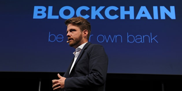 Peter Smith, chief executive officer of Blockchain Ltd., speaks during the Lisbon Web Summit in Lisbon, Portugal, on Tuesday, Nov. 8, 2016.