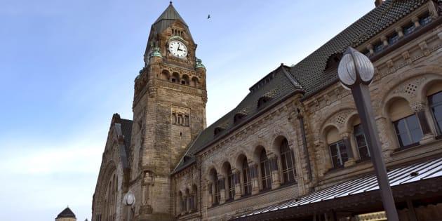 La gare ferroviaire de Metz.