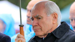 John Howard 'Harassed' By Union Protesters In Sydney, Escorted Away By