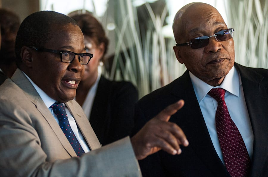 Brian Molefe, former chief executive at Eskom and Transnet and central figure in the capture of both entities, with President Jacob Zuma. Zuma's close friends, the Gupta family, were ably assisted by Molefe in advancing their business interests.