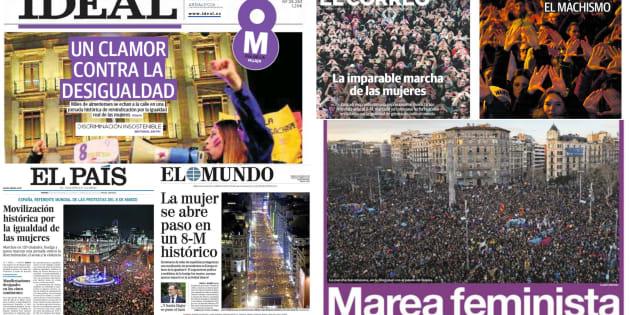 Portadas de algunos periódicos nacionales y regionales de este 9 de marzo.