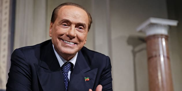 Forza Italia leader Silvio Berlusconi smiles as League party leader Matteo Salvini (not seen) speaks following a talk with Italian President Sergio Mattarella at the Quirinale palace in Rome, Italy, April 12, 2018.