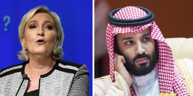 """Plutôt que Melania Trump, Marine Le Pen aimerait qu'on s'intéresse à la """"disparition"""" du prince héritier saoudien"""