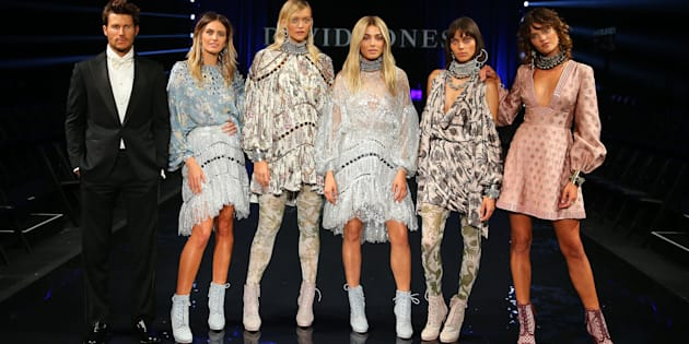 The A team on stage at the David Jones Spring/Summer 2016 Fashion Launch at Fox Studios