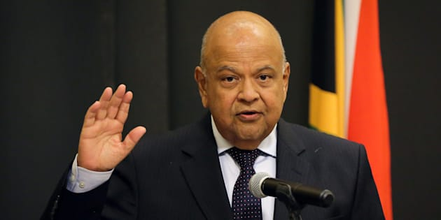 Pravin Gordhan is sworn in as Minister of Public Enterprises in Cape Town, South Africa, February 27, 2018.