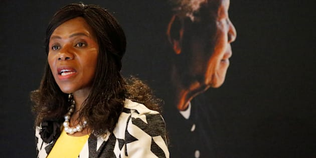 Then public protector Thuli Madonsela speaks at the Nelson Mandela Foundation in Houghton, Johannesburg, South Africa May 10, 2016.