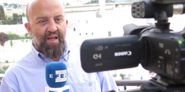 Javier Martín, delegado de la Agencia EFE en el Norte de África, en una imagen de archivo tomada en Jerusalén.
