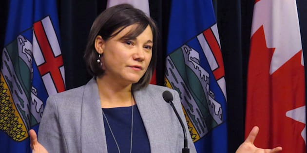 Alberta Environment Minister Shannon Phillips announces details of a bill introduced in the legislature in Edmonton on Nov. 1, 2016.