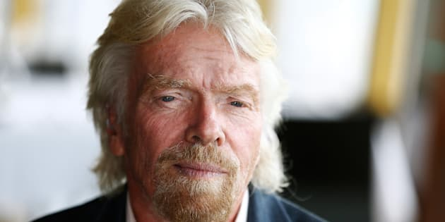 Richard Branson is bruised and battered after crashing his bike in the Caribbean.