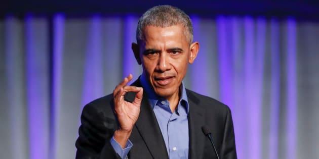 アメリカ前大統領のバラク・オバマ氏(撮影=2017年12月5日)