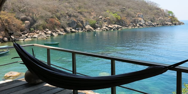 Vue sur la baie de Mumbo Island