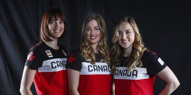 Maxime Dufour-Lapointe (à gauche) assure qu'elle continuera de suivre attentivement la carrière de ses deux soeurs, Chloé (centre) et Justine (à droite).