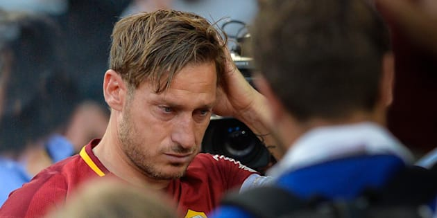 Francesco Totti during the Italian Serie A football match between A.S. Roma and F.C. Genoa at the Olympic Stadium in Rome, on may 28, 2017. (Photo by Silvia Lore/NurPhoto via Getty Images)