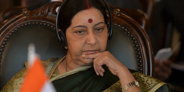 Indian Foreign Minister Sushma Swaraj.  REUTERS/Aamir Qureshi/Pool