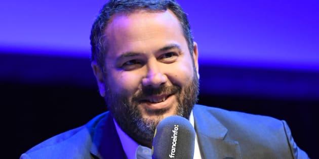 Marc Fauvelle remplacera Bruce Toussaint (ici le 30 août 2017) à la matinale de France info en septembre 2018.