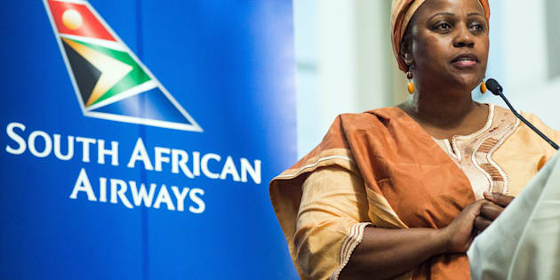 Duduzile Myeni, chairwoman of South African Airways (SAA), Photographer: Waldo Swiegers/Bloomberg
